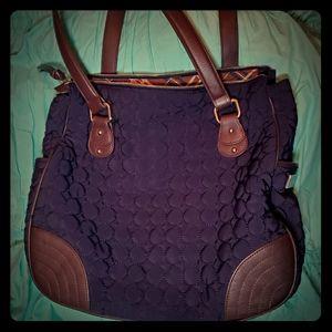 Vera Bradley quilted satchel